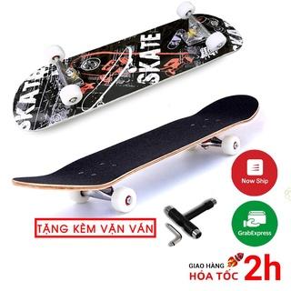 ❍❣Ván trượt skateboard Keen Store gỗ phong 7 lớp mặt đen nhám tải trọng 180kg dành cho người lớn và trẻ em