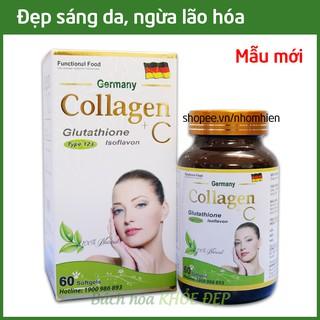 Viên uống Collagen đẹp da, bổ sung Vitamin A E C giảm thâm nám tàn nhang, ngừa nếp nhăn, chống lão hóa - Hộp 60 viên thumbnail