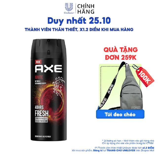 Xịt nước hoa toàn thân dành cho nam AXE Ignite (1 thumbnail