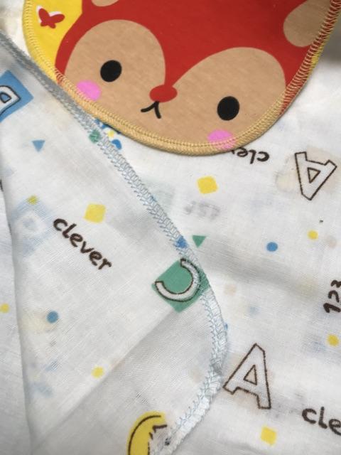 Combo  6 chiếc khăn lót lưng thấm mồ hôi cho bé