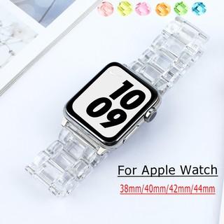 Dây Đeo Trong Suốt Đẹp Mắt Cho Đồng Hồ Thông Minh Apple Watch series 6 SE 1 2 3 4 5 38mm 40mm 42mm 44mm