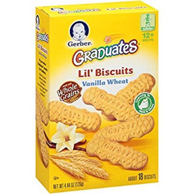 Bánh quy ăn dặm Gerber hương Vani