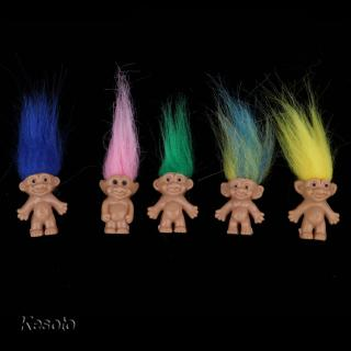 Set of 5pcs Troll Lucky Doll Leprocauns Doll Collections Party Favors