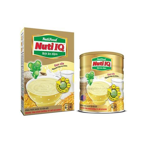 NutiIQ Bột ăn dặm Gạo sữa Lon 350g