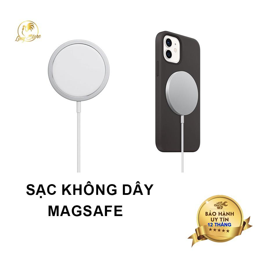 Sạc không dây MagSafe dùng cho iphone 12, 12 pro, 12 pro max và các dòng máy hỗ trợ sạc không dây chuẩn Qi