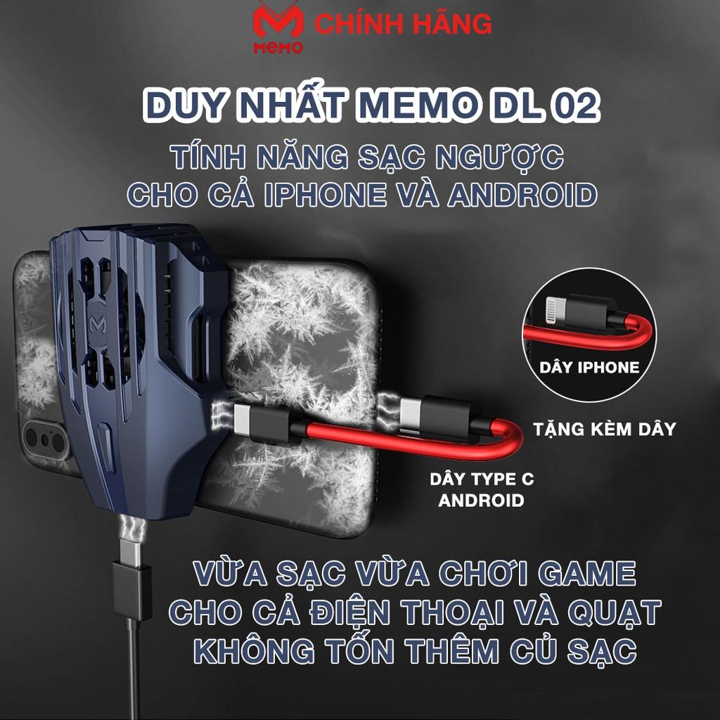 Quạt tản nhiệt điện thoại Memo DL02 - Quạt tản nhiệt Memo DL01