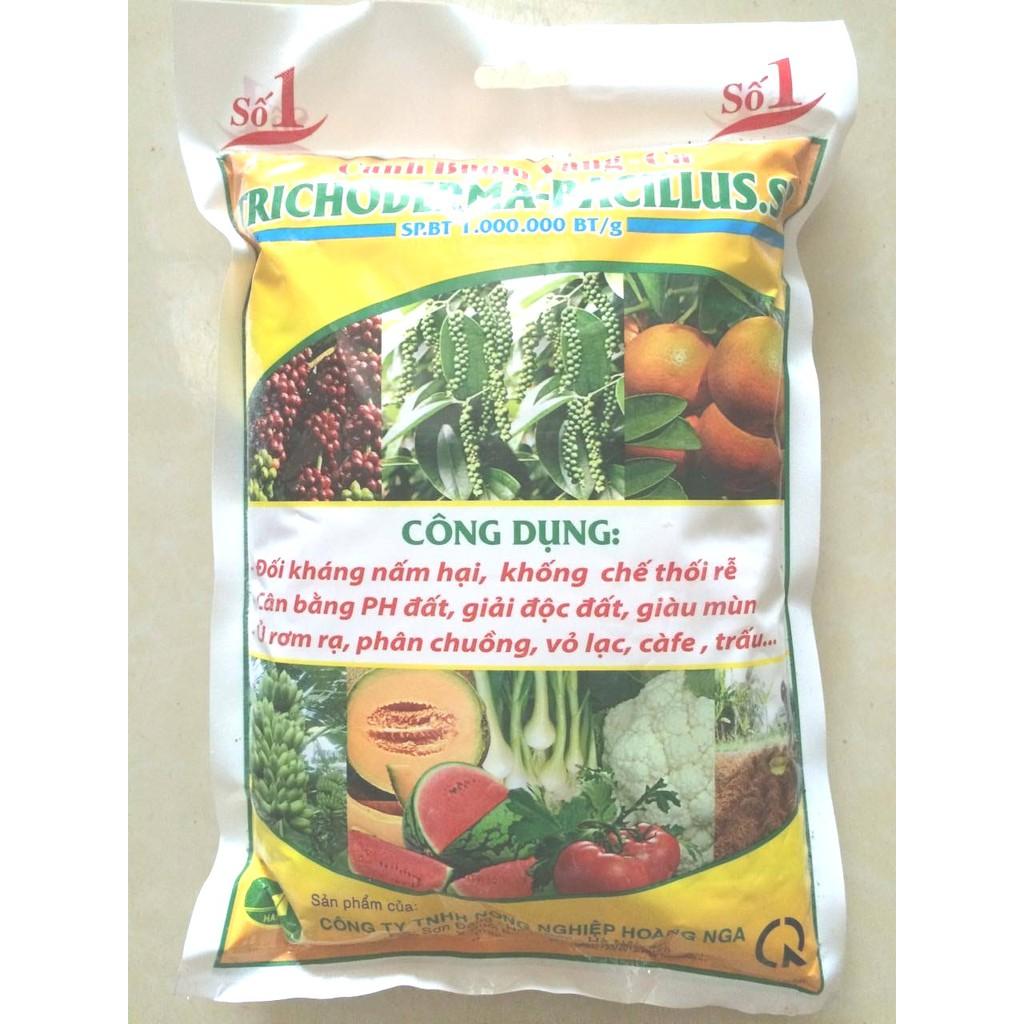 Nấm ủ Trichoderma 1kg ( Tặng 01 gói lân cao siêu kích rễ cây trồng 16g)
