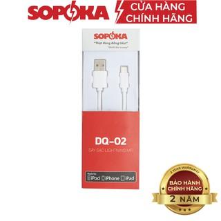 Cáp sạc dành cho máy Iphone SOPOKA DQ02 chân Lighting chính hãng dây 1M