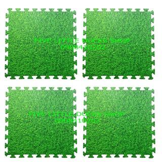 Bộ 4 tấm Thảm xốp lót sàn chống trơn trượt an toàn cho bé hình thảm cỏ xanh (60x60cm)