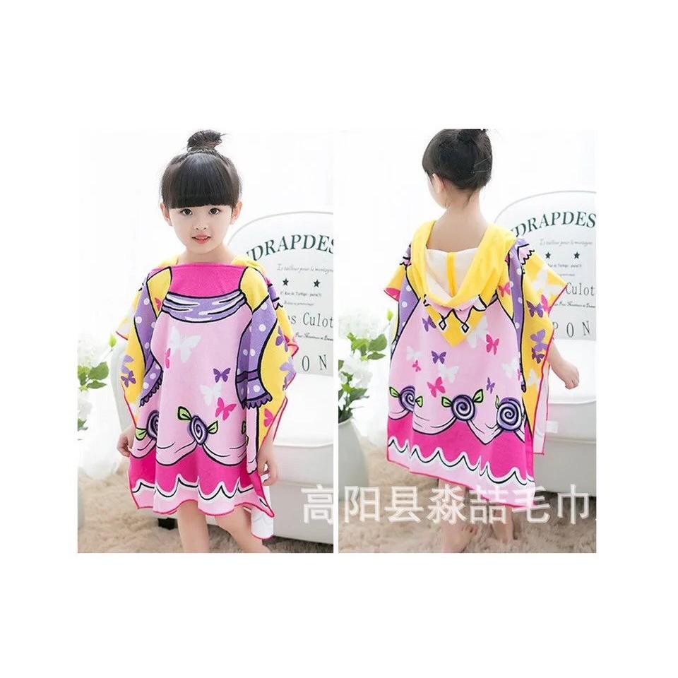 Khăn/áo choàng tắm đi bơi đi biển cotton họa tiết hoạt hình xinh xắn dễ thương cho bé trai và bé gái size 60*60cm