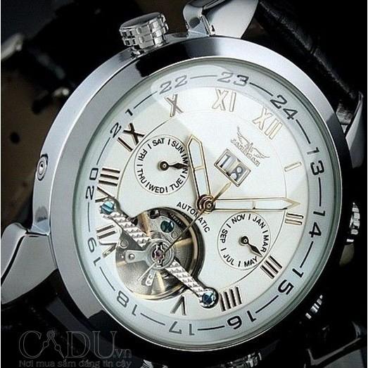 Đồng hồ nam dây da cơ học Jaragar 057