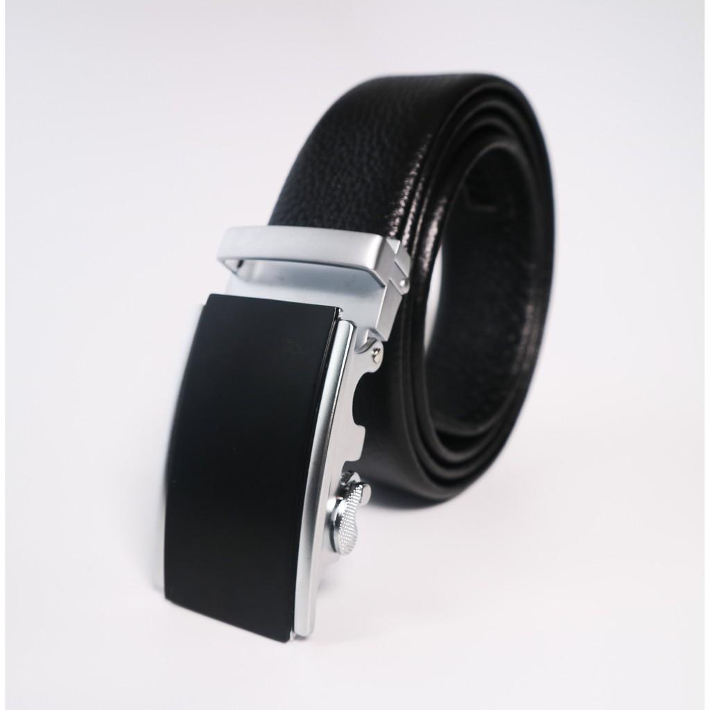 Thắt lưng nam khóa trượt tự động ( đen )