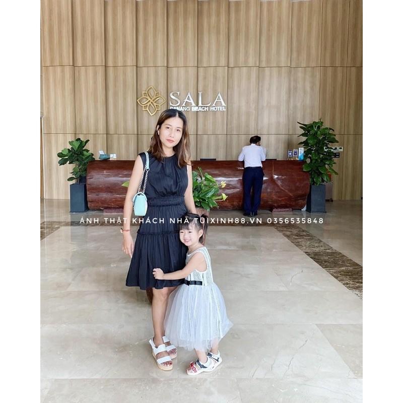Túi đeo chéo nữ MAMONT KHÓA BẠC size 22cm cao cấp giá rẻ