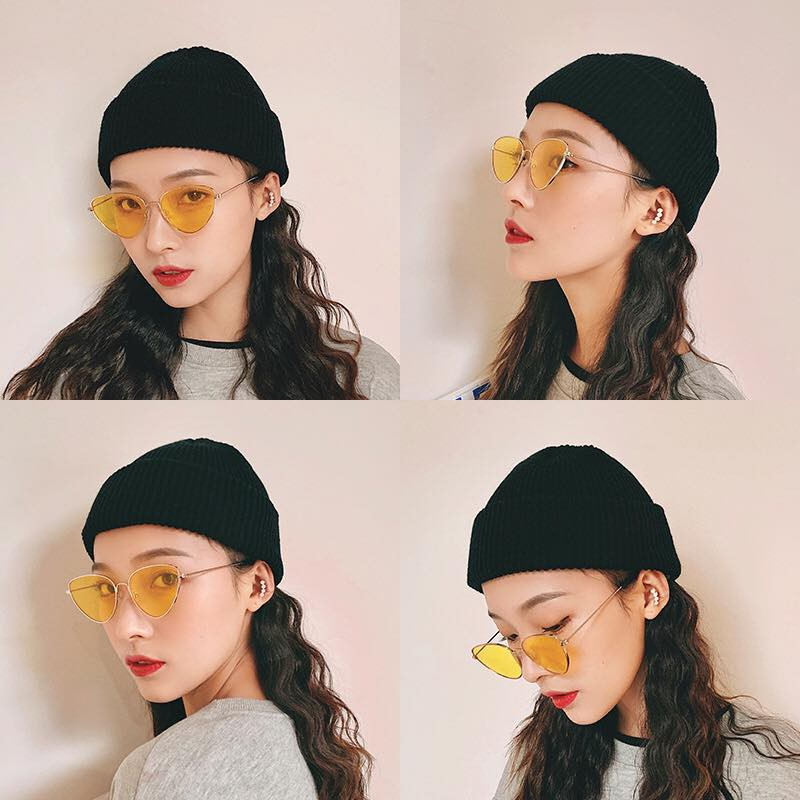 Mũ Len Beanie Mới Dệt Kim Phong Cách Hàn Quốc Cổ Điển Dành Cho Nam Và Nữ