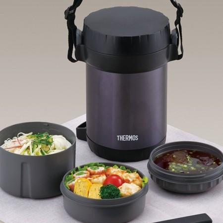 [TẶNG LI XI TET] Hộp cơm giữ nhiệt 3 ngăn Thermos JBG-1801- Hàng Nhật nội địa