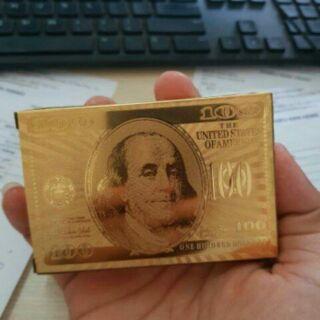Bộ bài mạ vàng 100$