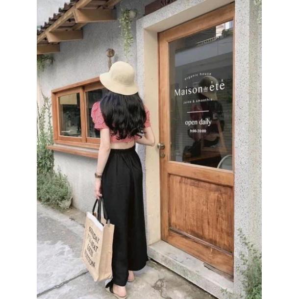 Quần đũi ống rộng dáng dài khoá thật Amee Fashion