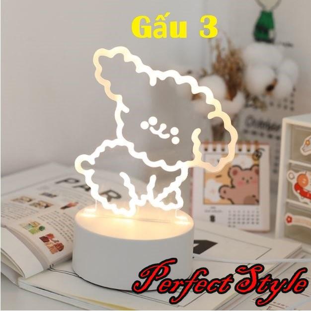 Đèn Ngủ 3d Viền Đậm Đèn Trang Trí, Quà Tặng Sinh Nhật Ý Nghĩa