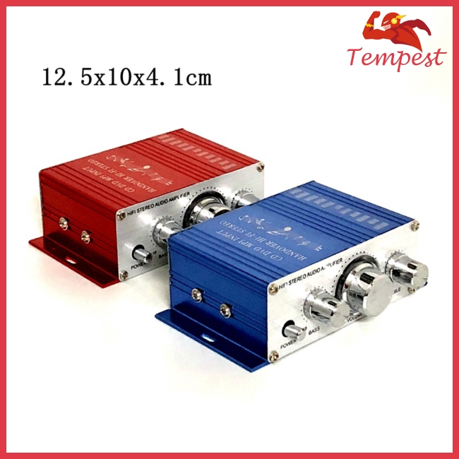 12V 2CH Mini Hi-Fi Stereo Audio Small Amplifier AMP for Car Motorcycle Radio MP3