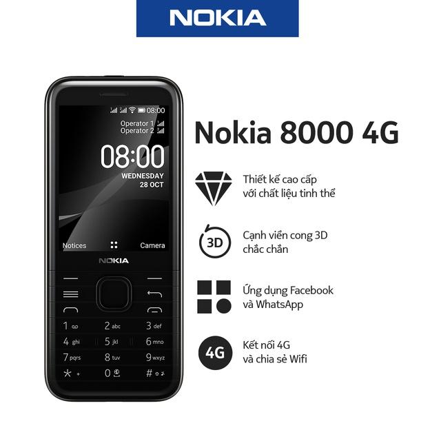 Điện thoại Nokia 8000 4G