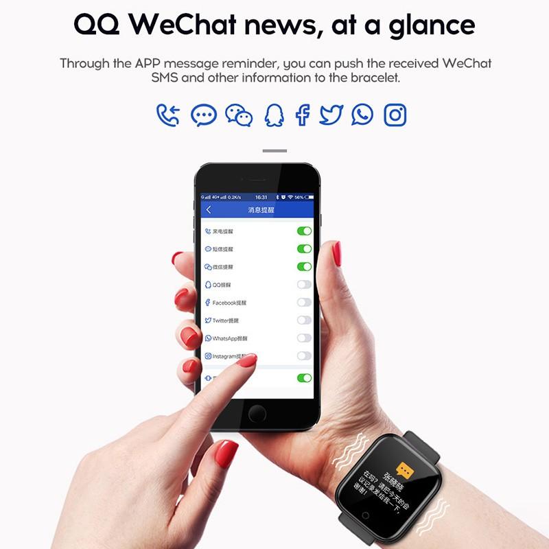 Đồng Hồ Thông Minh Hd 68 Kết Nối Bluetooth Chống Nước Hỗ Trợ Theo Dõi Sức Khỏe Cho Nam Và Nữ