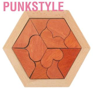 Punkstyle Wooden Geometrical Shaped Jigsaw Intelligent Puzzle Toy for Children Over 14 Years Old