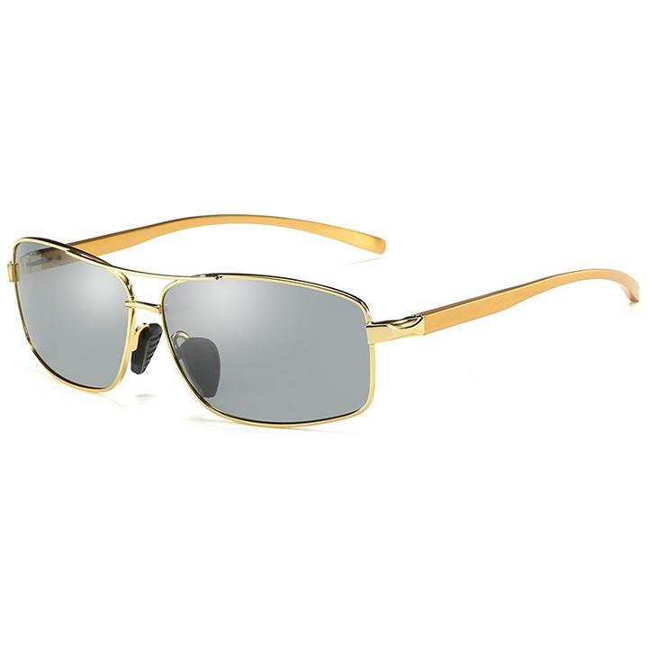 Mắt kính đổi màu thời trang A2458 - Gọng vàng