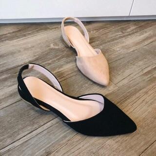Sandal da lộn quai sau 2p hàng đẹp siêu xinh - KÈM CLIP