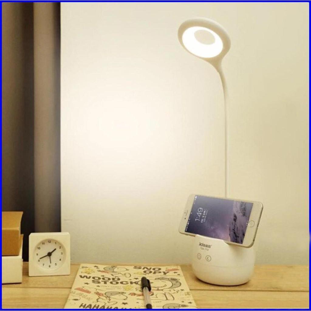 Đèn học để bàn chống cận 3 chế độ, Tích điện 6h, Kết hợp đèn ngủ, Có chỗ cắm bút để điện thoại