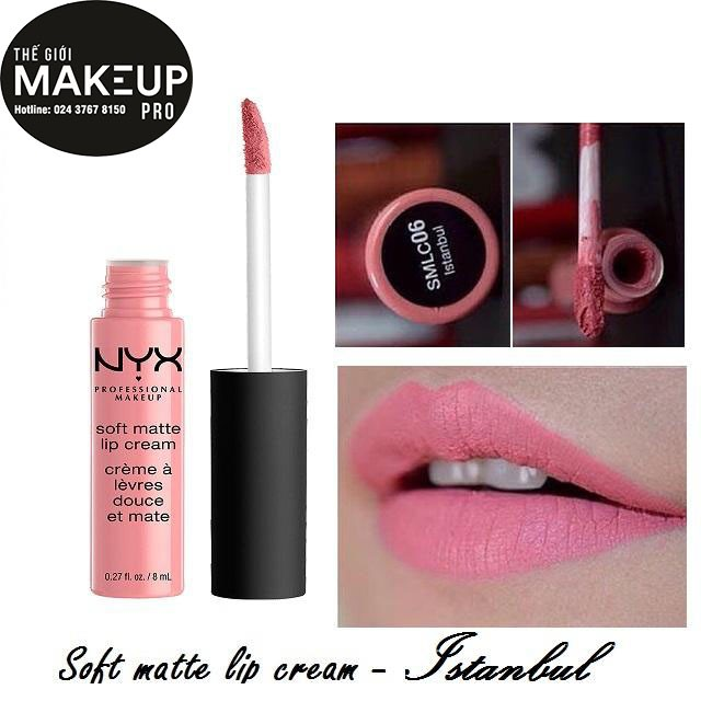 Son kem NYX Professional Makeup Soft Matte Lip Cream Istanbul SMLC06 - 3492571 , 672658308 , 322_672658308 , 200000 , Son-kem-NYX-Professional-Makeup-Soft-Matte-Lip-Cream-Istanbul-SMLC06-322_672658308 , shopee.vn , Son kem NYX Professional Makeup Soft Matte Lip Cream Istanbul SMLC06