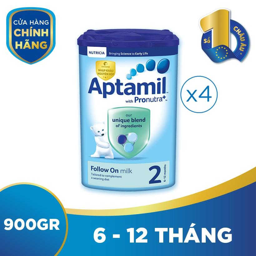 Bộ 4 hộp sữa bột công thức Aptamil số 2...