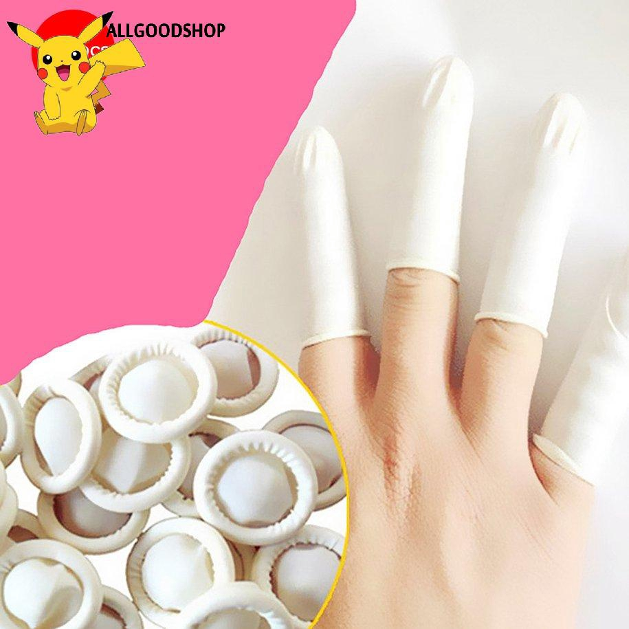 Set 100 bao đeo ngón tay chất liệu latex thiên nhiên bền chống tĩnh điện
