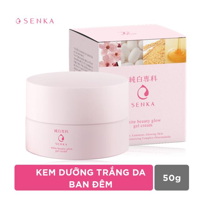 Kem dưỡng trắng da ban đêm Senka White Beauty Glow Gel Cream 50g -