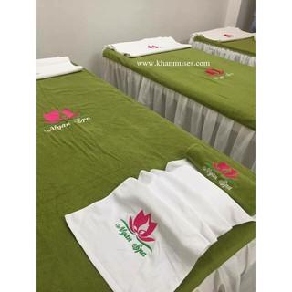 Khăn Trải giường Spa 90×190 cm Muses -XANH LÁ CÂY