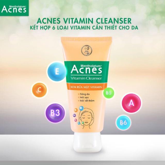 Sữa rửa mặt sáng da mờ sẹo và vết thâm Acnes Vitamin Cleanser 100g - 2938051 , 1213859034 , 322_1213859034 , 55000 , Sua-rua-mat-sang-da-mo-seo-va-vet-tham-Acnes-Vitamin-Cleanser-100g-322_1213859034 , shopee.vn , Sữa rửa mặt sáng da mờ sẹo và vết thâm Acnes Vitamin Cleanser 100g