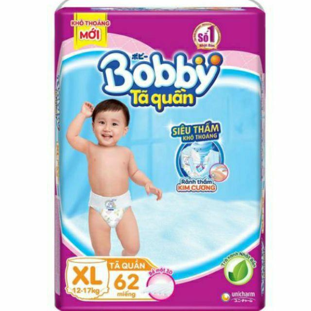 Tã quần bobby M74-L68-XL62-XXL56 mẫu mới