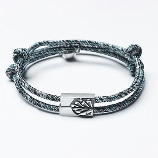 Vòng Tay Đôi Dây Dệt Thủ Công Núi & Biển - LTD01 - Bảo Ngọc Jewelry