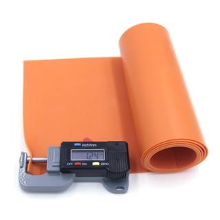 (1.2mm) Cuộn 1m thun Latex Malaysia dày 1.2mm (Màu cam)