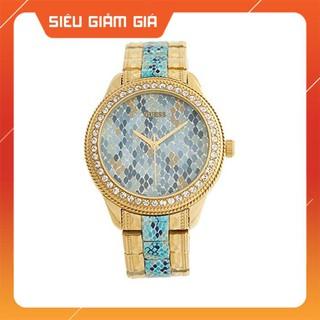 [New 2021] Đồng hồ nữ Guess W0624L1 xanh vàng, mặt da rắn Full Box Hàng Authentic thumbnail