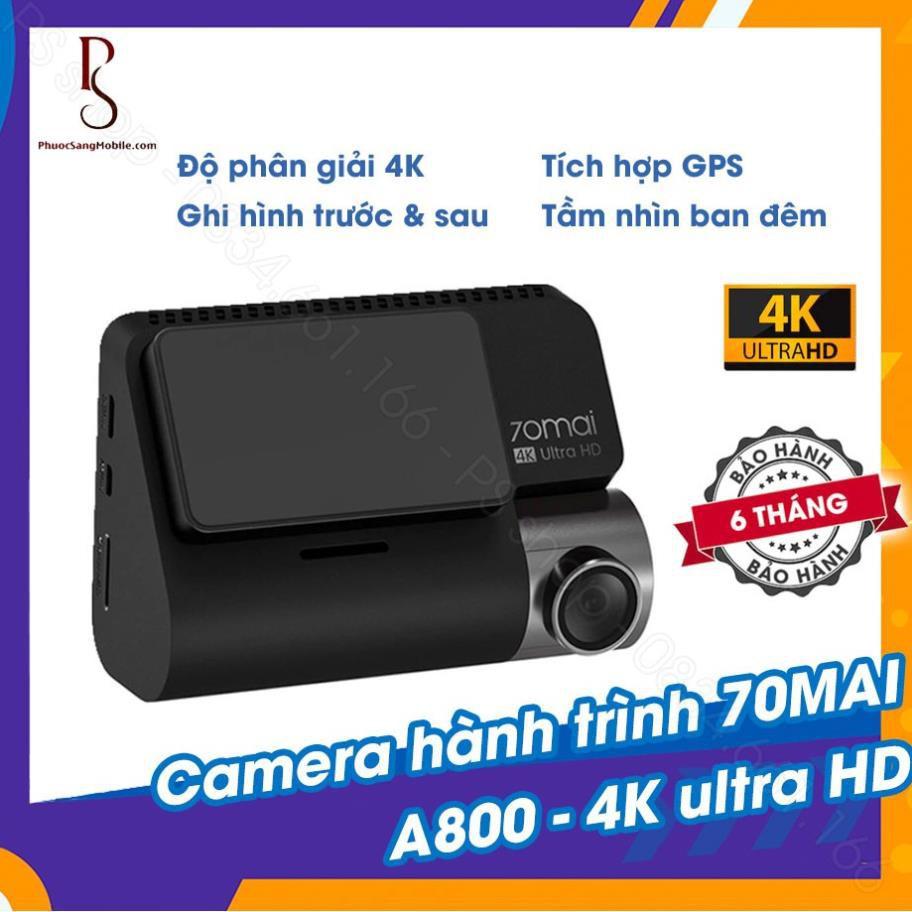 Camera hành trình 70mai A800 4K Ultra HD - tích hợp GPS BH 12 THÁNG có cổng hành trình lùi