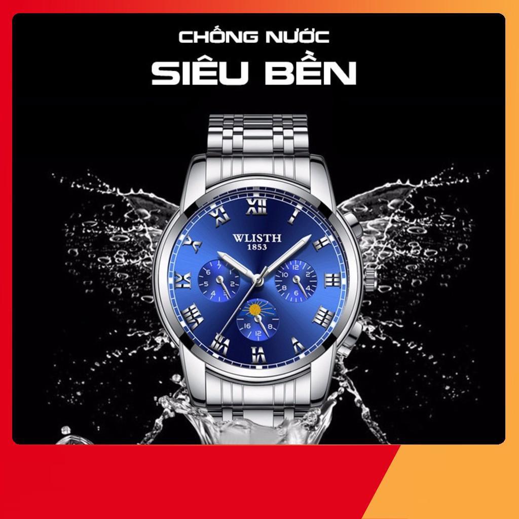 [Giá gốc] Đồng hồ nam chính hãng cao cấp dây thép không gỉ WLISTH WLI01 - Đồng Hồ Quốc Tế