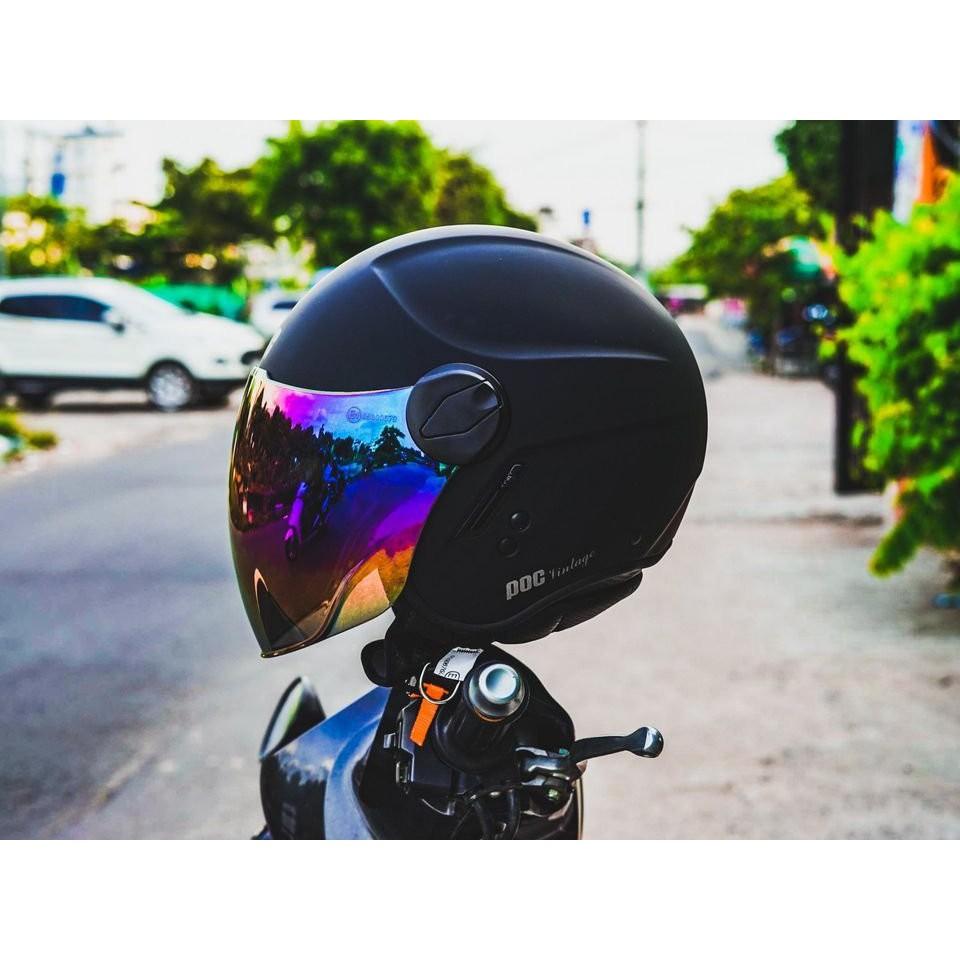 MŨ BẢO HIỂM 3/4 POC CITY MÀU ĐEN NHÁM + TÚI ĐỰNG NÓN VÀ HỘP