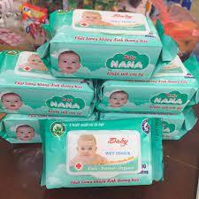 [Mã 267FMCGSALE giảm 8% đơn 500K] Giấy Ướt Baby Nana Gói 100 Miếng