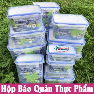 Yêu ThíchHộp bảo quản thực phẩm 4 khóa bằng nhựa sử dụng được trong lò vi sóng