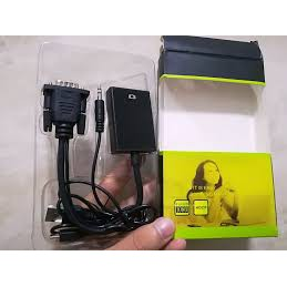 Dây cáp chuyển đổi VGA ra HDMi AV có âm thanh.Bảo hành 6 tháng.shopphukienvtq