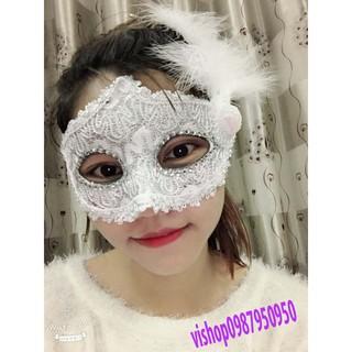 mặt nạ lông vũ ( kèm ảnh thật ) mã SPOW4005