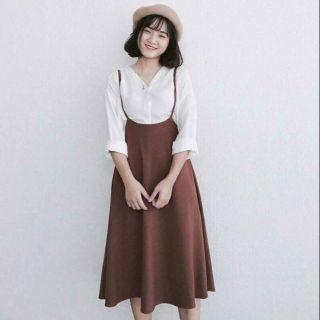 Váy yếm vintage (có sẵn)