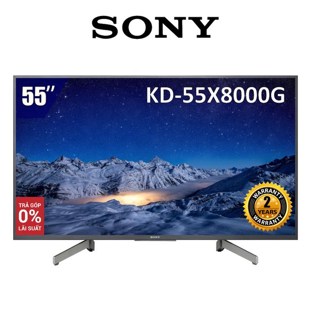 Android Tivi Sony 55 inch 4K UHD KD-55X8000G (Model 2019) - Hàng Chính