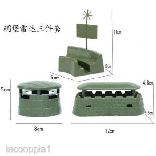 9pcs Realistic Military Sand Scene Model Accessory Plastic Toy Soldiers Kits