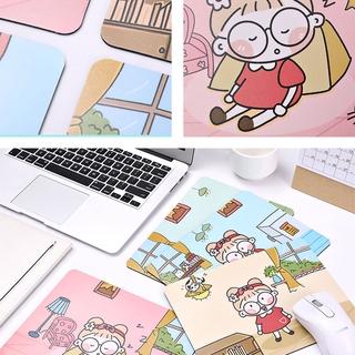 Cute Girl Non-Slip Mouse Pad Creative Cartoon Table Mat